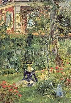 Manet Edouard von Im Garten der Villa Bellevue Kunstdoppelkarte