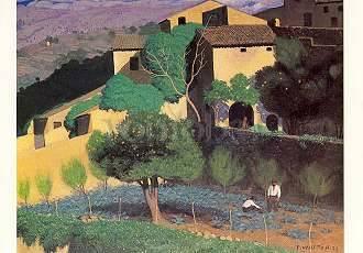 Vallotton Félix von Cagnes Kunstpostkarte