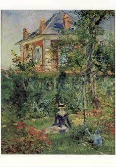 Manet Edouard von Im Garten der Villa Bellevue Kunstpostkarte