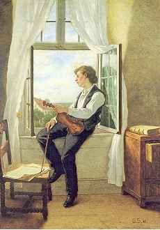 The Violin Player at the Window