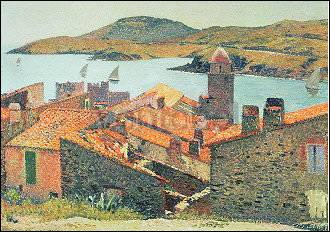Martin Henri Von Rote D 228 Cher In Collioure Kunstpostkarte